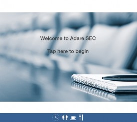 Visitornet – Welcome Screen